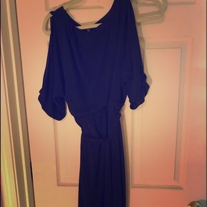 Jessica Simpson Navy Faux Wrap Dress